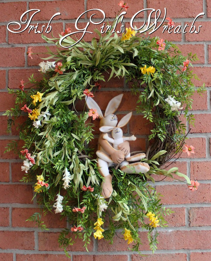 Guess How Much I Love You Bunnies Wreath #3