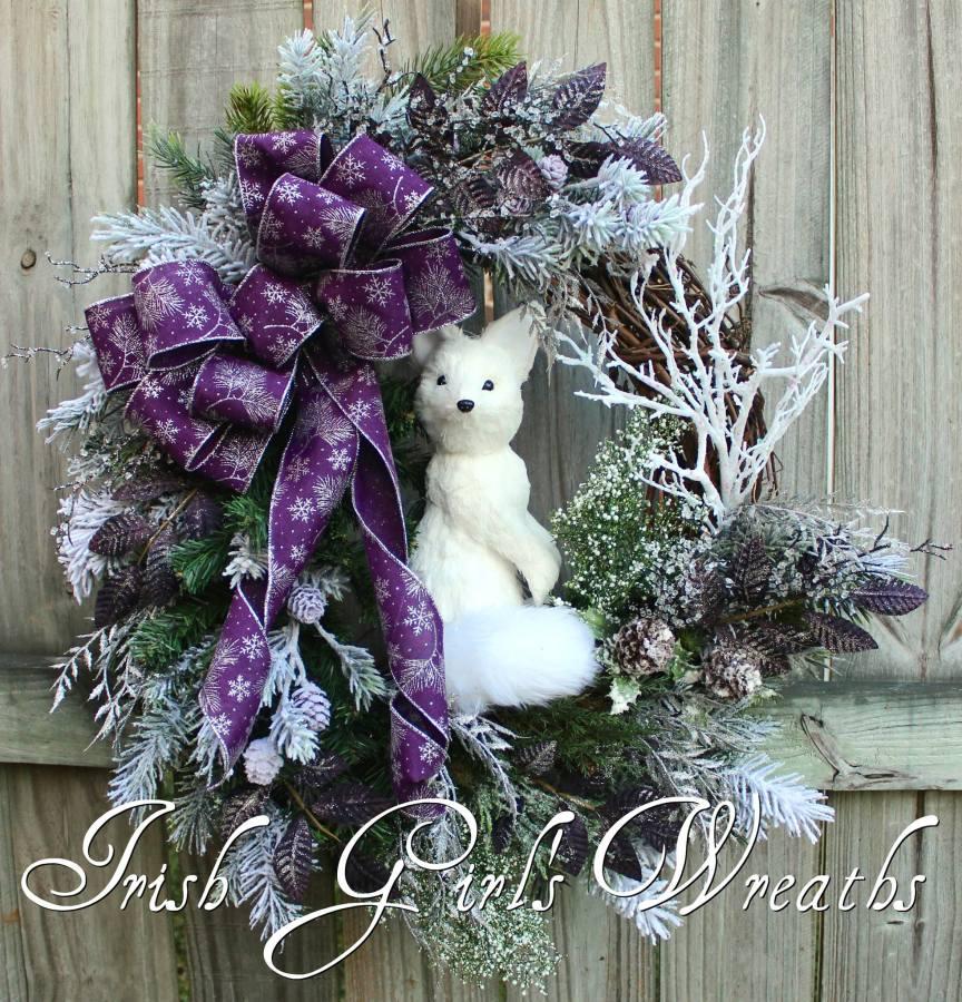 Winter Fox Wreath