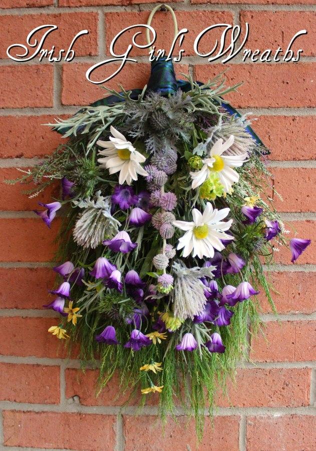 Scottish Bluebell Springtime Floral Swag