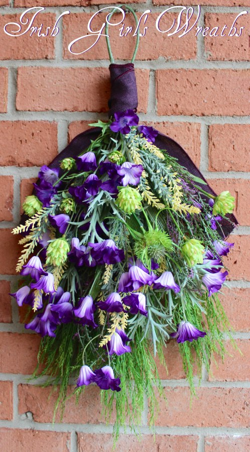 BlueBell Meadow Wildflower Swag Wreath