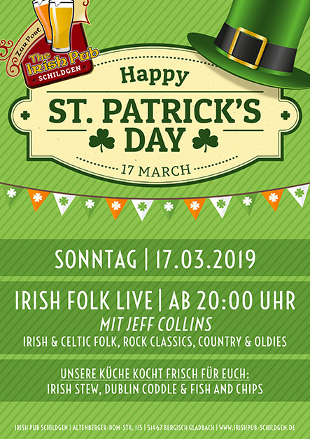 Irische Küche Dublin St. Patrick's Day: Live Music Mit Jeff Collins // Irish