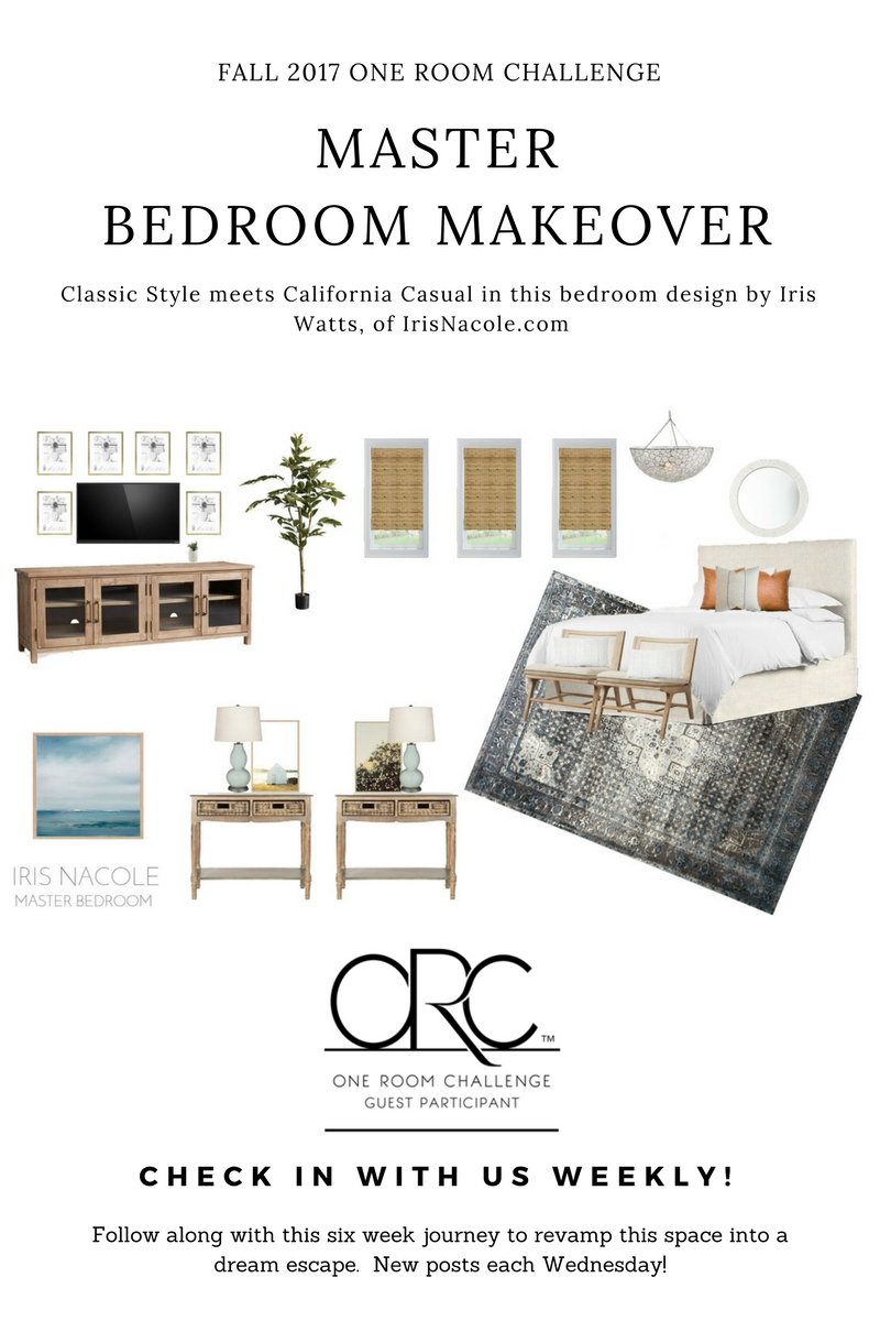 Classic Bedroom Escape Classic Meets California Casual Master Bedroom Makeover Week 5