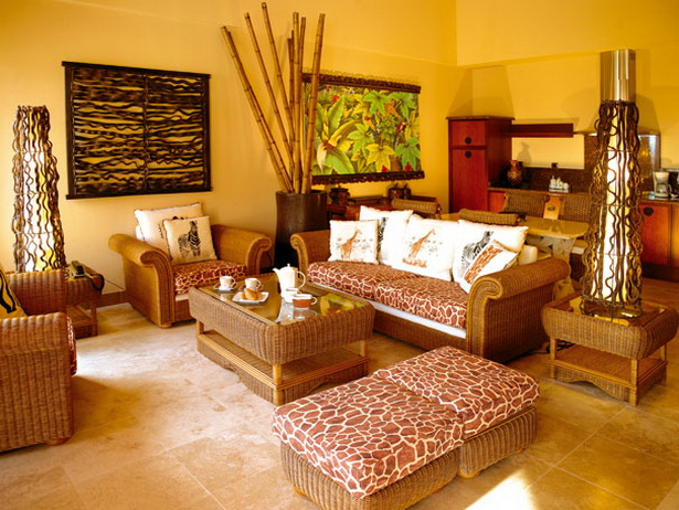 Wohnzimmer Ideen Afrika  Wohnideen Afrika Style