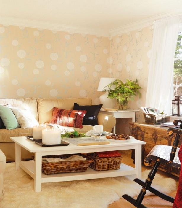 Gemütliche Wohnzimmer Couch