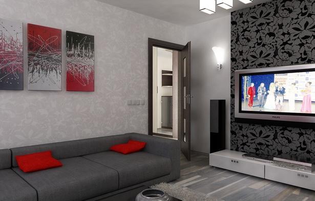 Graue Wand | Schlafzimmer Deko Grün