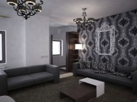 Deko wohnzimmer schwarz wei