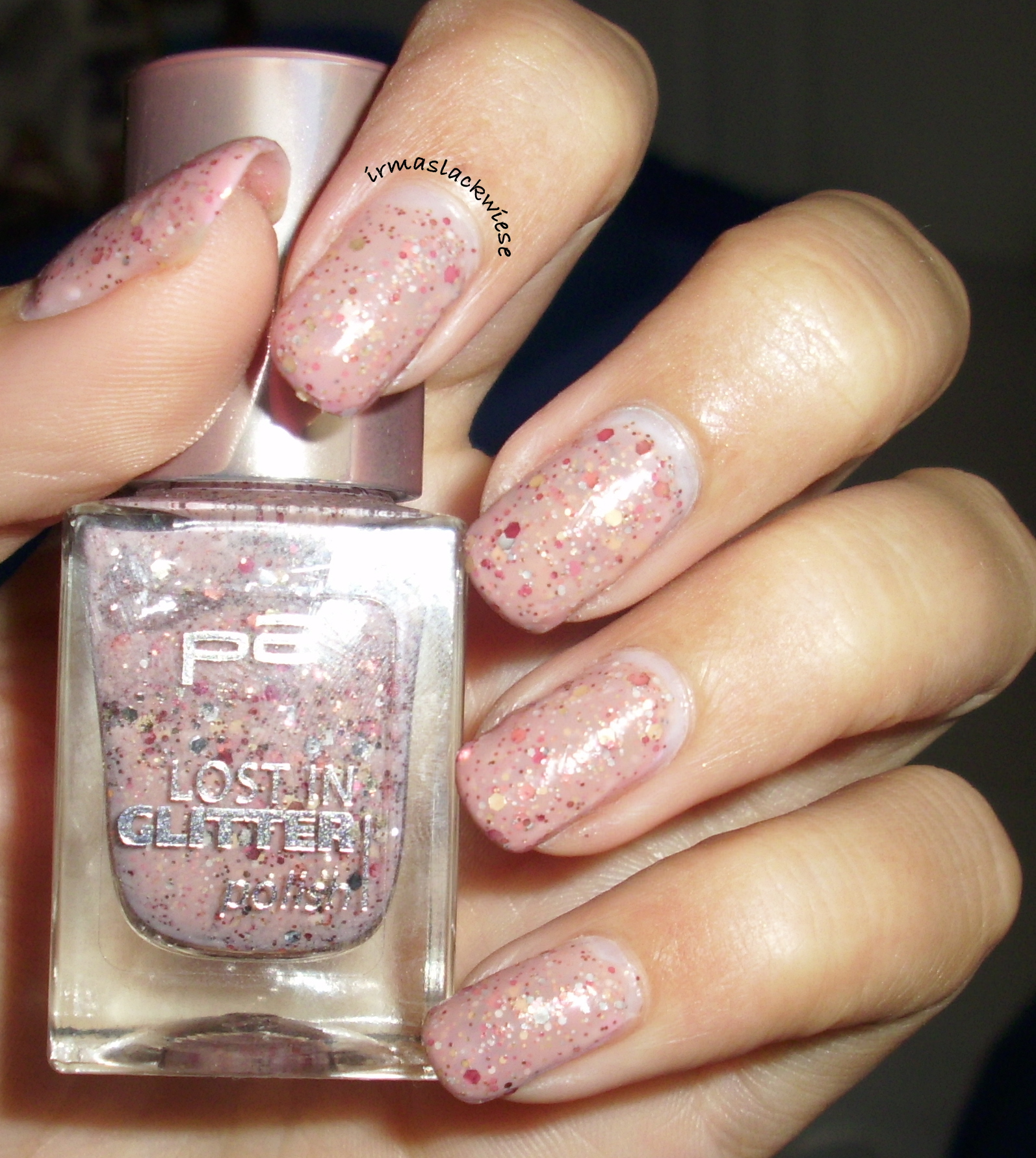 Nagellack Glitzer P2 Lost In Glitter Crazy Natural Irmas Lackwiese