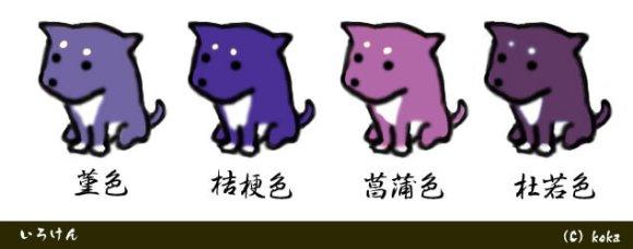 色犬-菫色