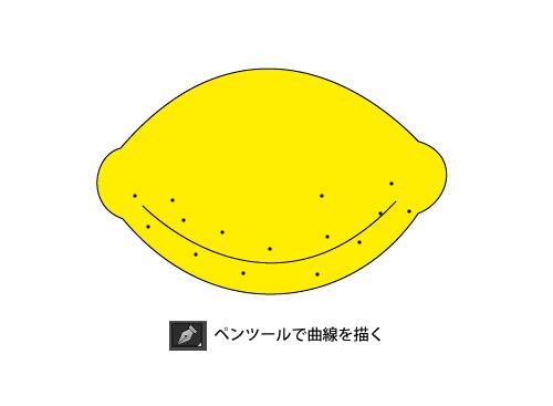 手順:ペンツールで曲線を描く