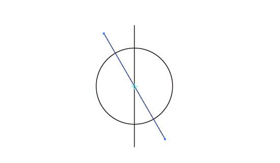 30°回転した直線