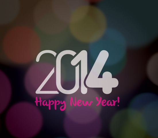 Happy New 2014 Vector Graphic