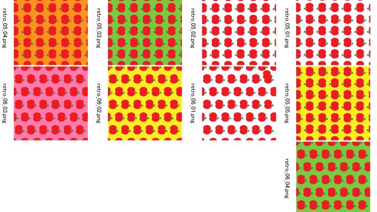 昭和レトロなりんごのフリー素材