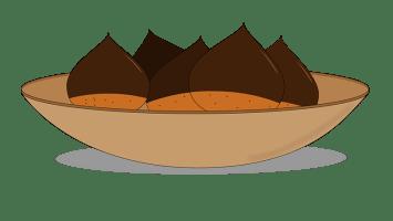 illustratorでシンプルな栗を描く