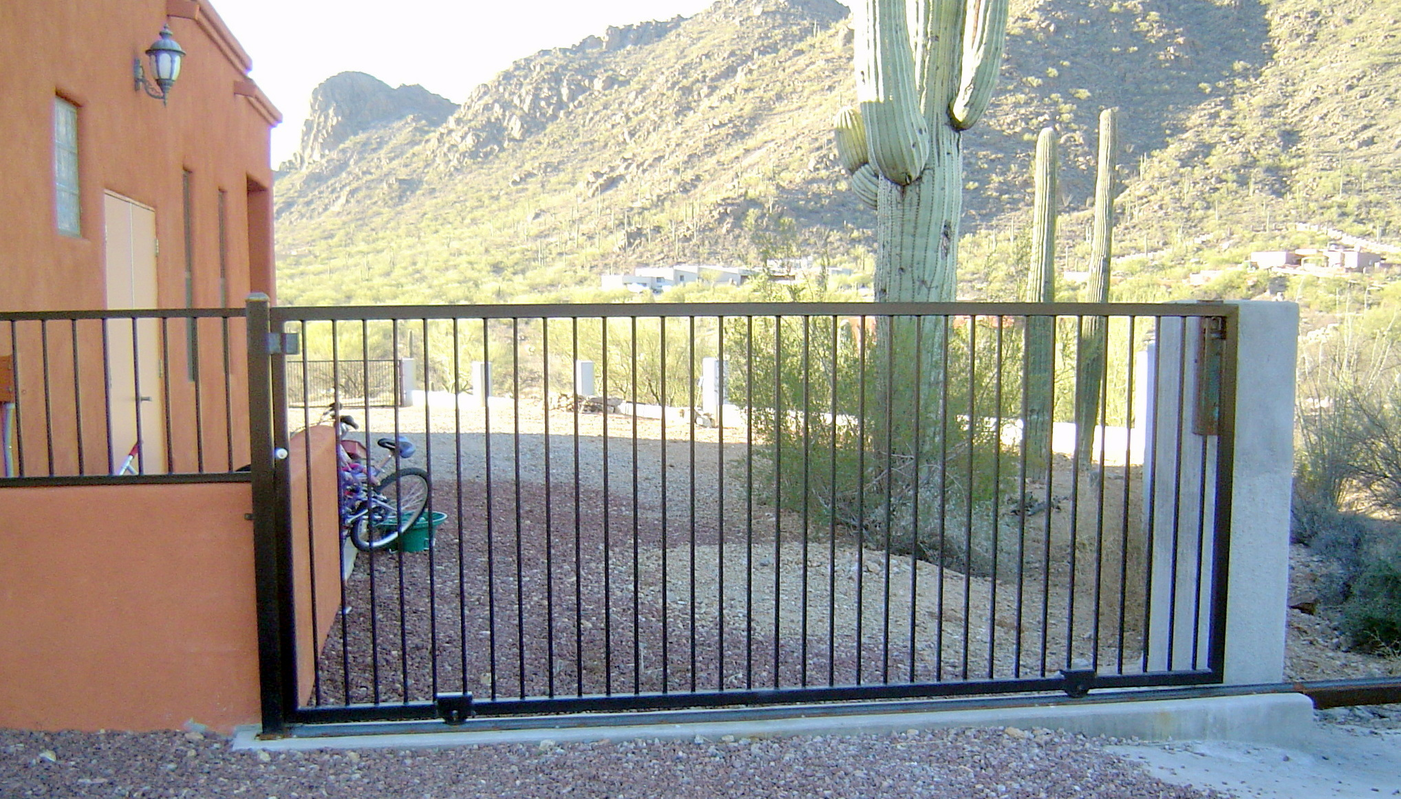 Fireplace Photos Drive Gate On Guide Rail - Ironcraft In Az
