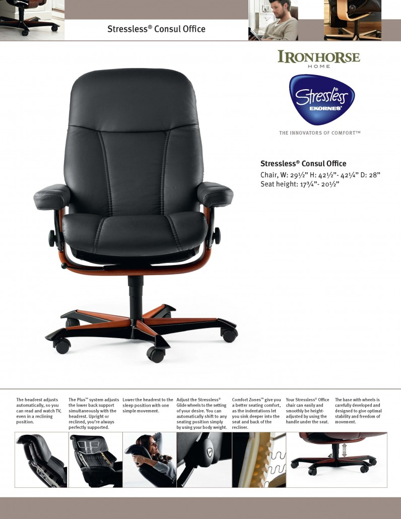 Stressless Fauteuils 2017 Stressless Offfice Ironhorse Home Furnishings