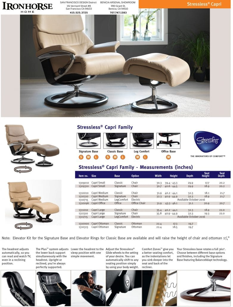 Stressless Nordic Legcomfort Full Line Of Stressless Recliners At Ironhorse Home