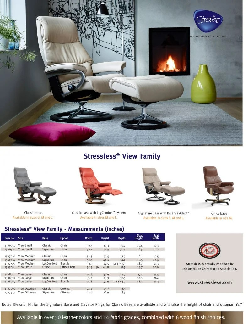 Stressless Fauteuils 2017 Stressless View Family Of Recliners Ironhorse Home Furnishings