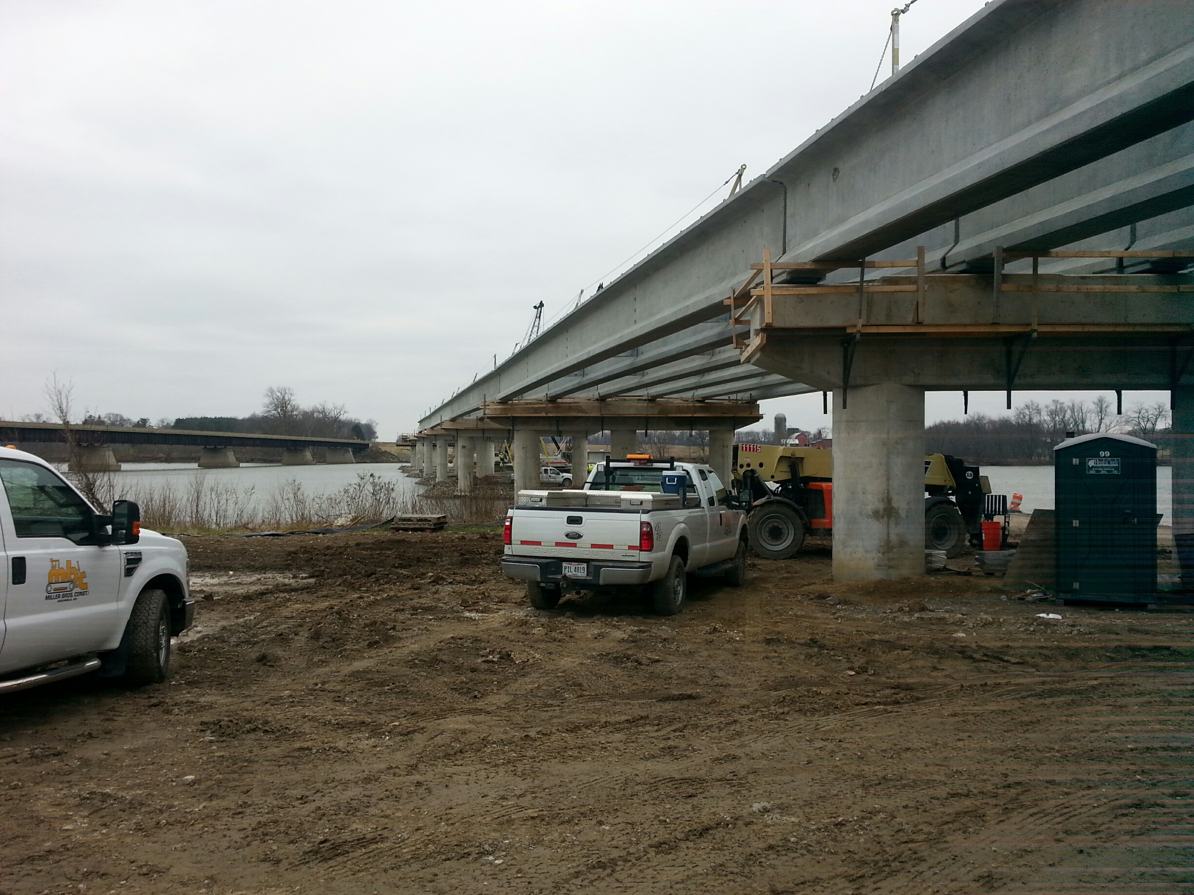 Precast Bridges Maumee River Bridges Ironworkers Local 55