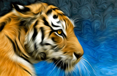 Tiger Art Painting Photo