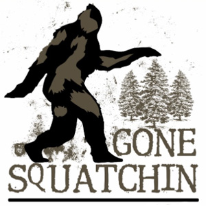 Sasquatch Gone Squatching Design Shirts and Products