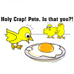 Holy Crap Pete is that You? Vegetarian Humor Chicken Design