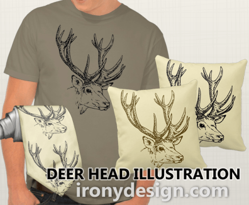Deer Head Illustration Gifts