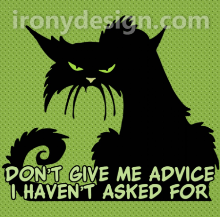 Don't Give Me Advice Angry Cat Products