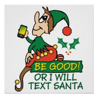 Elf Texting Santa Merchandise