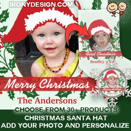 Custom Santa Hat Add Your Photo