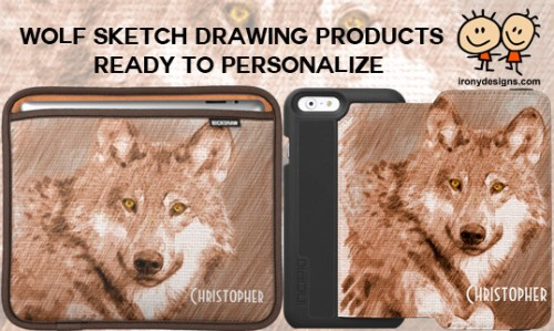 Wolf Sketch Art Products
