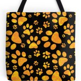 Paw Print. Novelty Tote Bags by Irony Designs on Redbubble