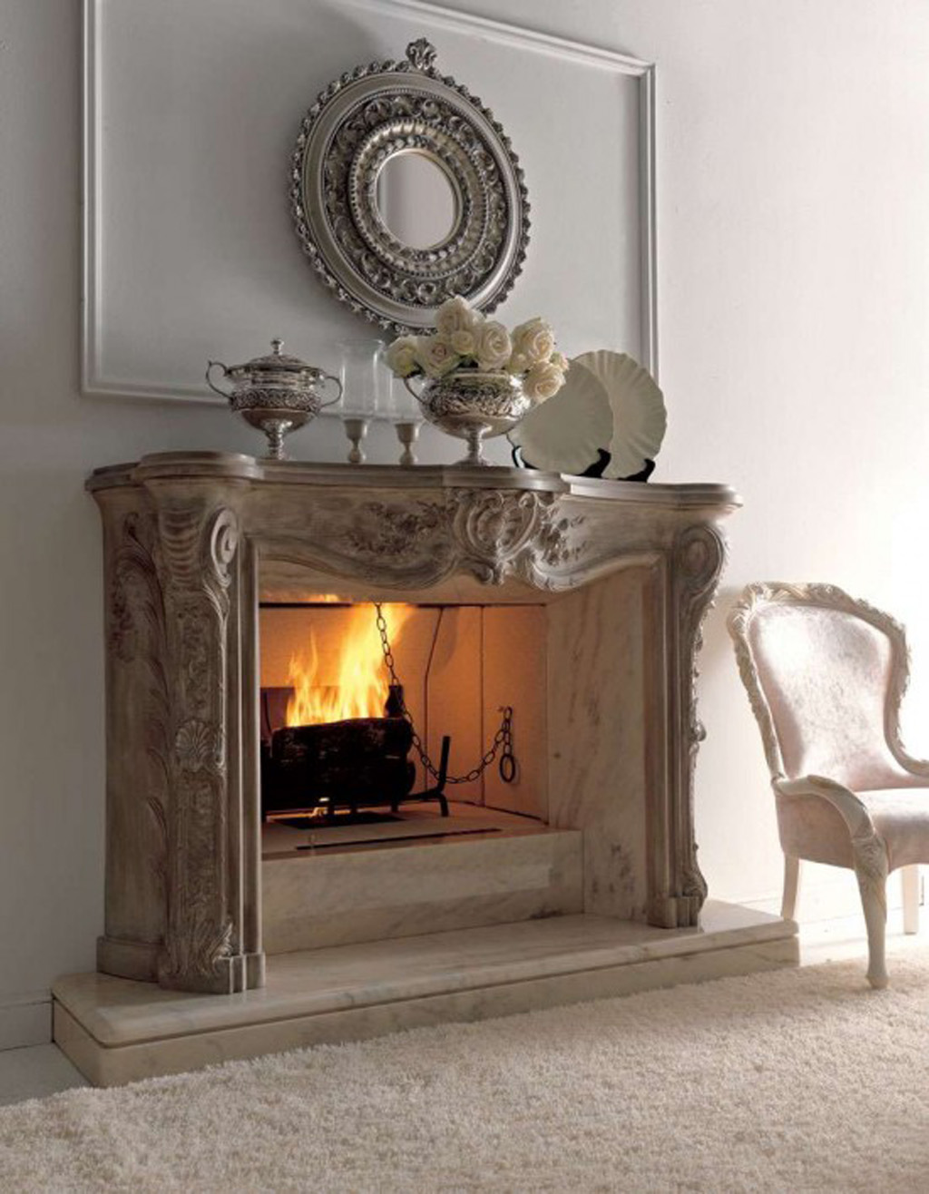 How To Decorate Fireplace Wall Classic Fireplace Decor Idea Iroonie
