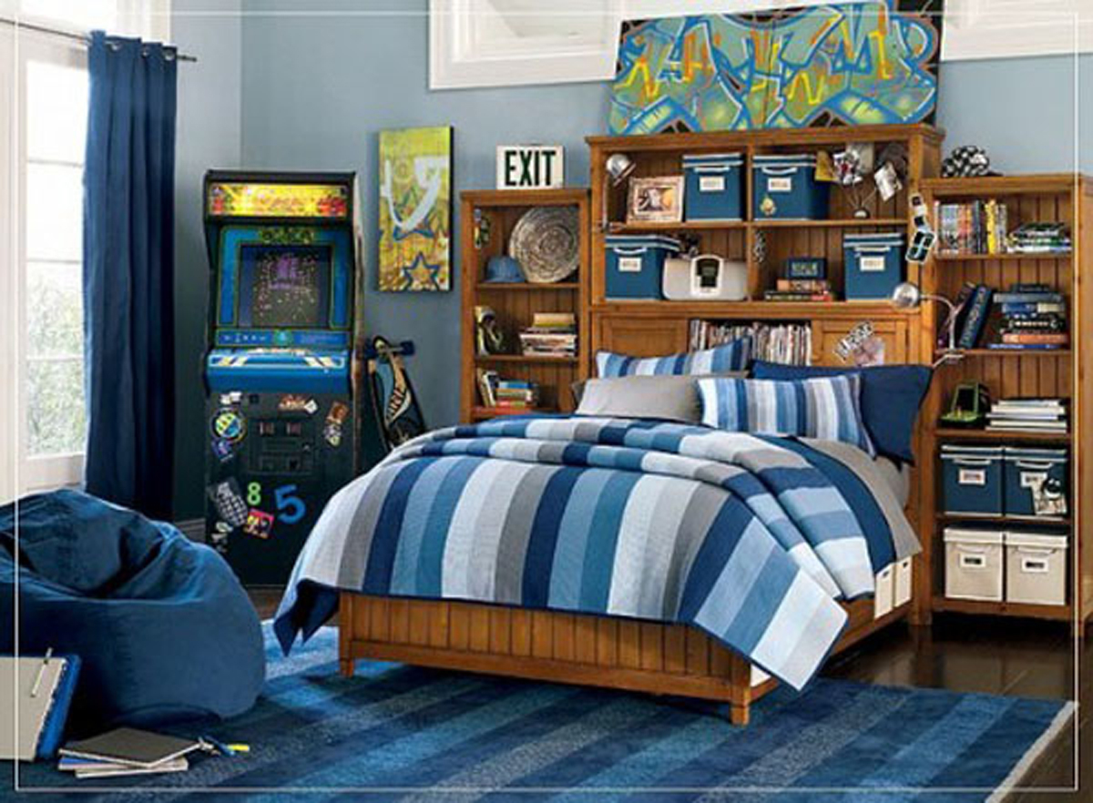 Zimmer Für Jungs Modern Blue Color Scheme For Boys Kids Bedroom Iroonie