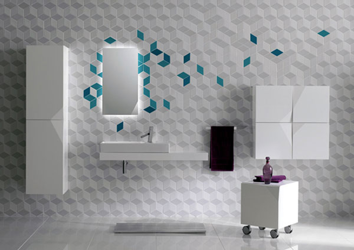 Modern Bathroom Wall Decor Futuristic Bathroom Wall Tile Decor Iroonie