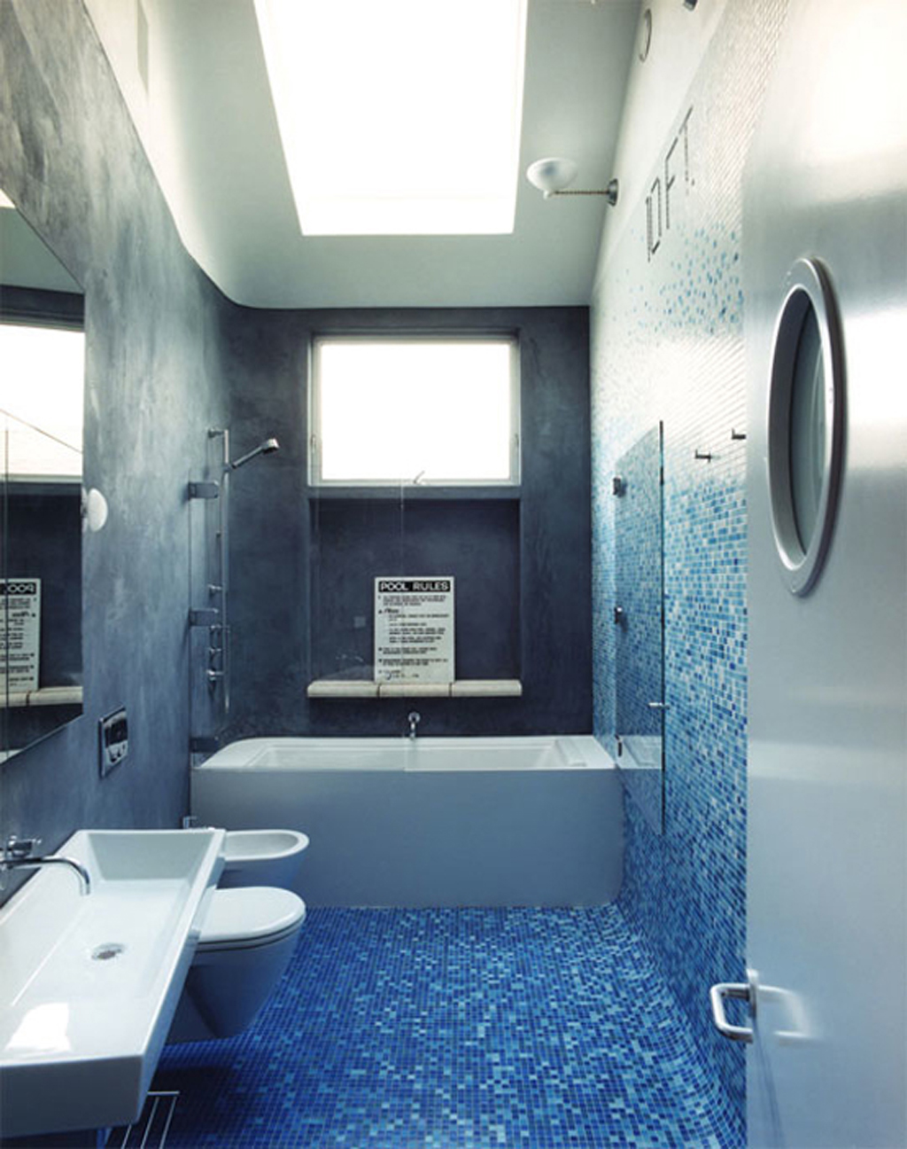 Blue Bathrooms Pictures Black And Blue Bathroom 2017 Grasscloth Wallpaper
