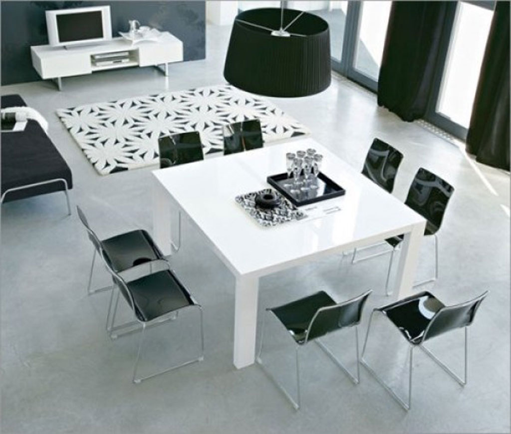 Dining Room Black And White Black And White Dining Room Iroonie