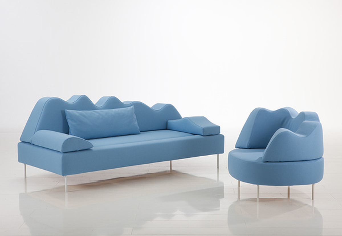 Trend Meubels Blue Color Tone Home Sofa Set Iroonie