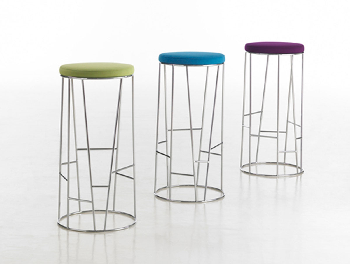 Stools Designs Colorful Seat Side Bar Stool Iroonie