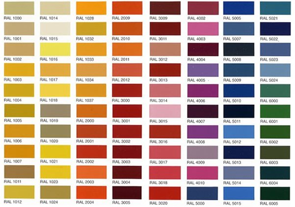 RAL Colour Chart - We are based in Horsham, West Sussex - ral color chart