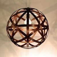 Timber Pendant Light Shades. lampada cipolla caged shade ...