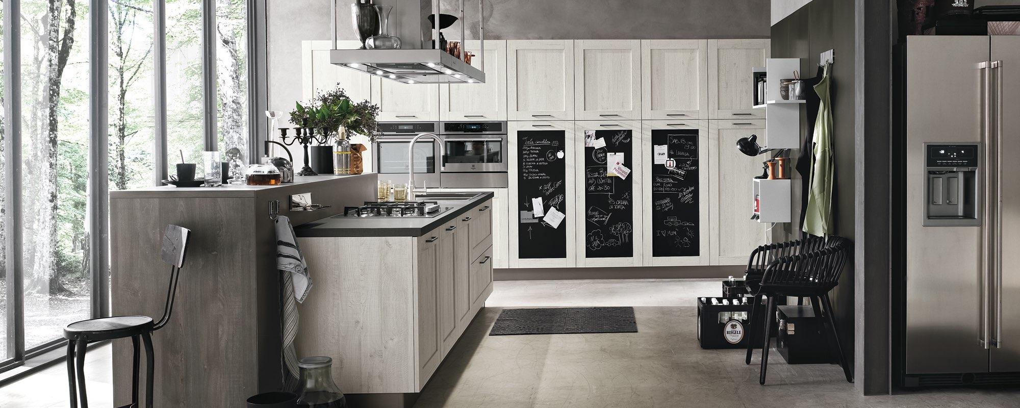 Cucina Moderna Con Vetrata   Tende A Vetro Moderne Ikea