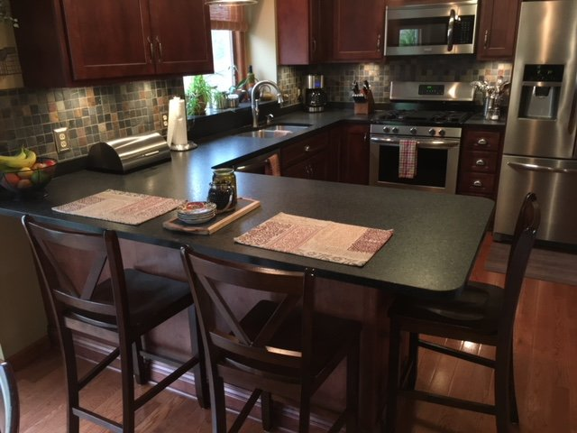 Negresco Honed Leathered Granite For Perimeter Kitchen Kitchen Project Gallery | Cfm Stone Surfaces Serving Buffalo, Ny