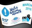 Water Action Month Flag IRSP Pakistan