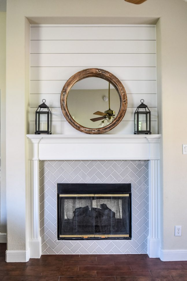 Living Room Cabinets Double-sided Fireplace Before & After