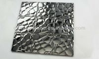 3d Wall Decor Silver Stainless Steel Mosaic Tiles Metal ...