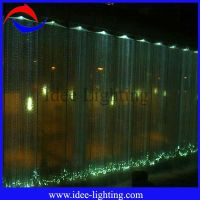 LED fiber optic waterfall light curtain, View fiber optic ...
