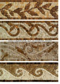 Handmade Marble Mosaic Pattern Wall Borders,Travertine ...