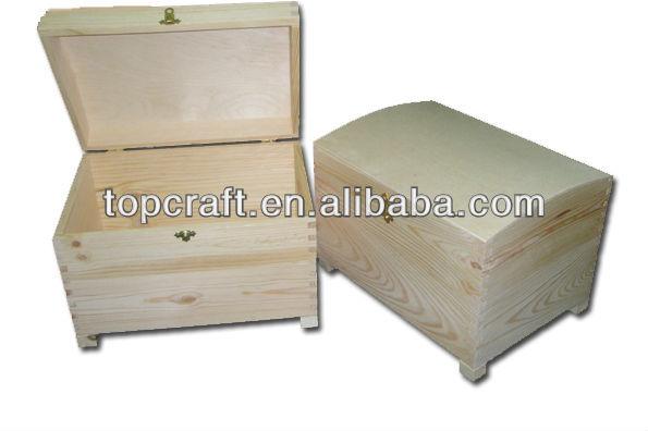 Wooden Treasure Chest Storage Box 16cm Decorate Paint Wood