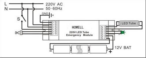led light with battery backup wiring diagram