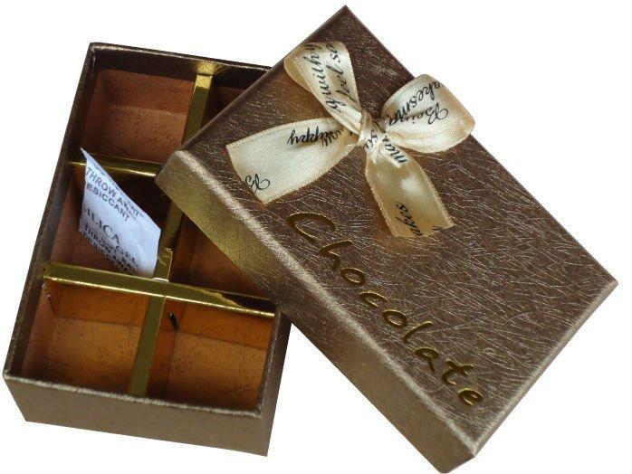 Classical Golden Rectangular Chocolate Gift Box Packaging